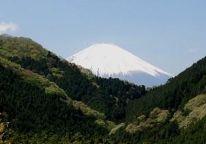 時計台跡から富士山を望む