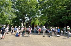 北口広場で開会式