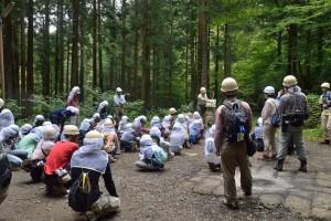 林業体験へ出発