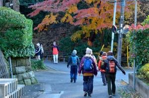 光触寺の入り口付近